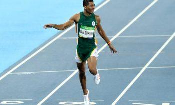 Wayde Van Niekerk mejora su registro en los 100