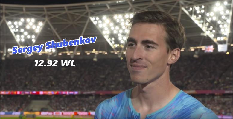 Sergey Shubenkov, líder mundial en 110 mv