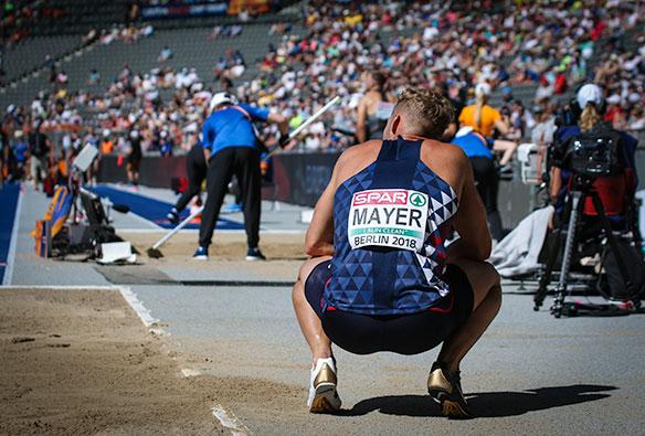 Kevin Mayer, en busca del récord del mundo de decatlón