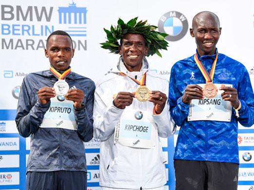 Eliud Kipchoge entra en la historia de la maratón