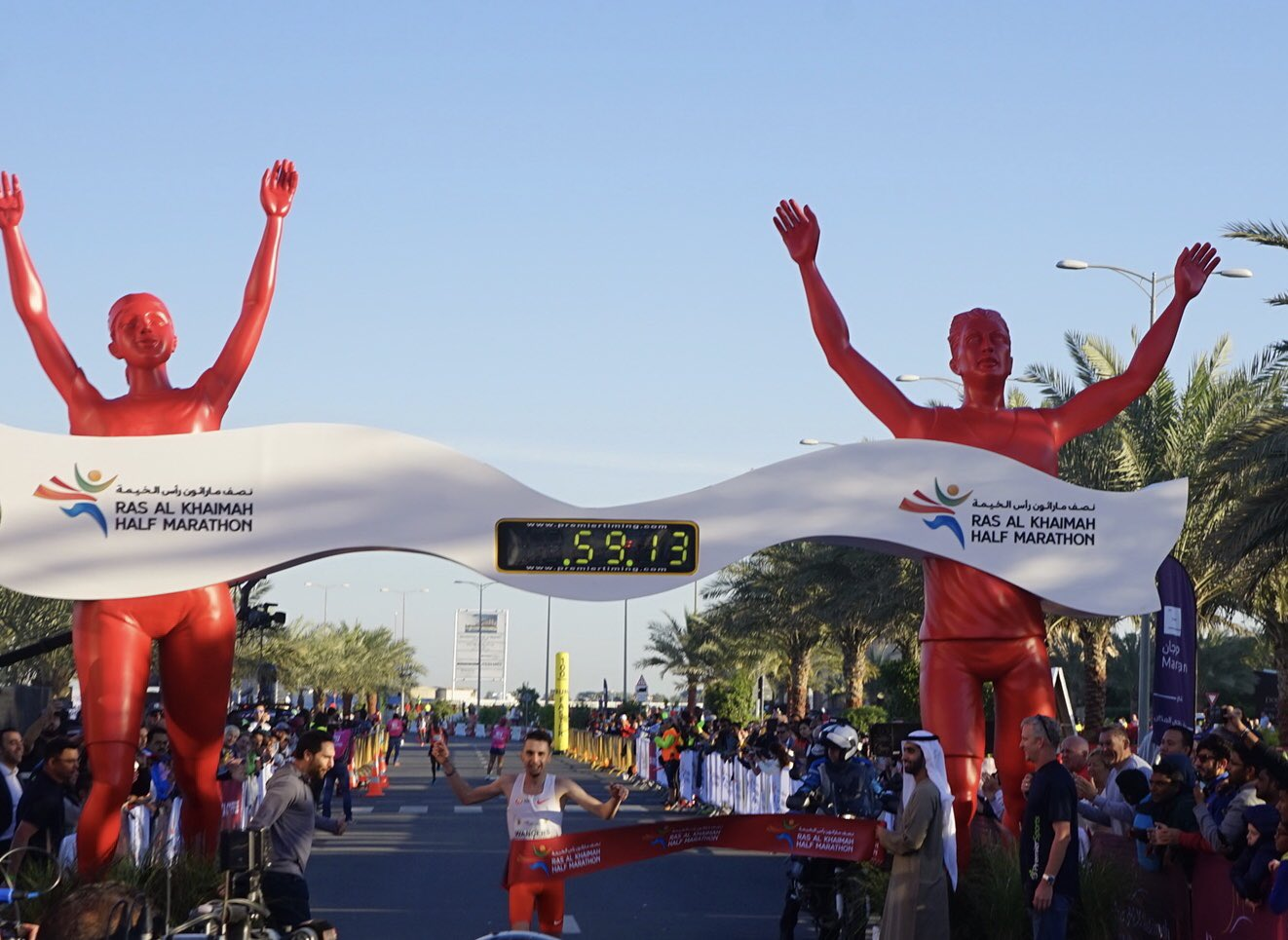 Julien Wanders, récord de Europa de medio maratón