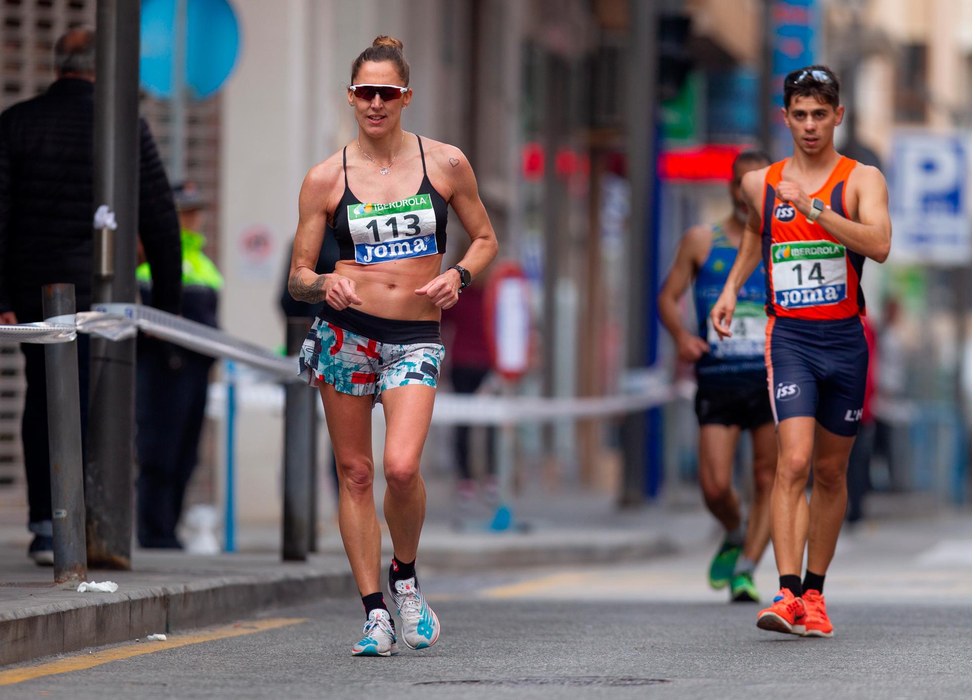 Ainhoa Pinedo durante el Campeonato de España de 50 km marcha